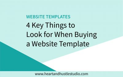 4 Key Things to Look For in a Website Template
